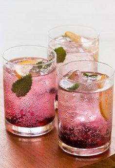 Blackberry and Meyer Lemon Gin and Tonics