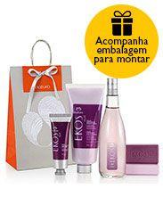 Presente Natura Ekos Açaí - Desodorante Colônia + Polpa Desodorante Hidratante + Sabonete + Embalagem