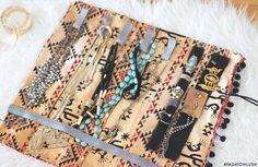 ++ travel smart & organized w/ this chic DIY jewelry roll! ++