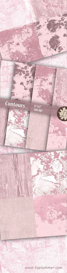 Pale pink printable  watercolour painted scrapbook papers which look a bit like delicate abstract maps, ideal for website or blog backgrounds, cards, wedding invitations, greetings cards, wrapping paper, digital scrapbooking etc