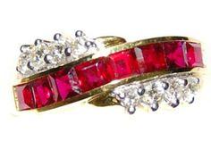 18K Yellow Gold Diamond Eternity Unique Ruby Ring [RQ0045] BKGjewelry http://www.amazon.com/dp/B00BRJ2H5O/ref=cm_sw_r_pi_dp_cySzwb0CF3RT6