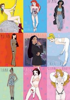 Miley Cyrus meets Disney Princesses