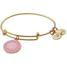 Alex and Ani Spiral Sun Charm Bangle (250 HRK) ❤ liked on Polyvore featuring jewelry, bracelets, gold, charm jewelry, alex and ani bangles, charm bracelet bangle, alex and ani charms and 24-karat gold jewelry