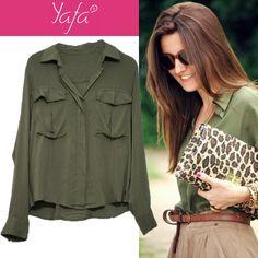 Camisa verde militar www.yafa.com.br