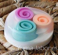 Jabones Decorativos : Jabón de Glicerina con espirales