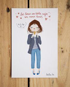 Ilustraciones y frases positivas