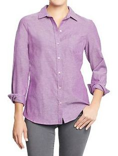 orchid purple Women's Oxford Shirts | Old Navy