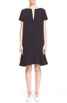 STELLA MCCARTNEY Short Sleeve Ruffle Hem Dress. #stellamccartney #cloth #