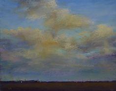 Dramatic Sky Contemporary Landscape Pastel Painting by Karen Margulis psa