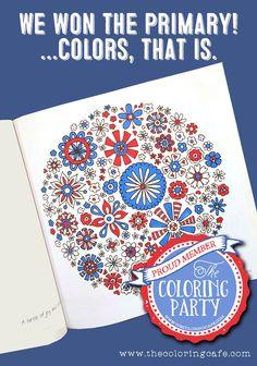 No debates, no drama, just coloring!  www.thecoloringcafe.com
