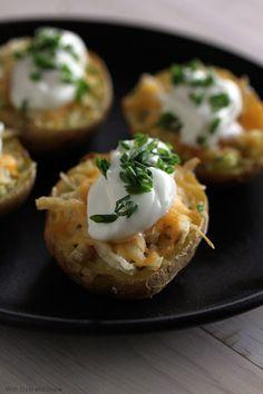 Lightened Baked Potato Boats!