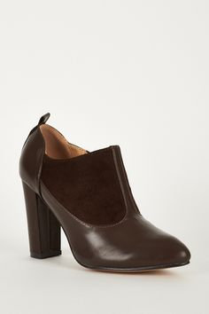 2cb4e7d5be8 Faux Suedette Leatherette Boot With Stitching Details.£9.99 Block Heels