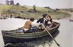 A Stern Chase is a Long Chase ~ Edmund Blair Leighton