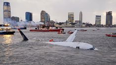 Rescue boats were on the scene in minutes as the Airbus A320 sank slowly