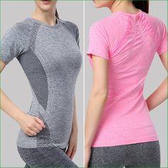 WST05 Fitness Gym Body Shirt Compression Tights women's Sport Short Sleeve T Shirts Women Running T-Shirts  Sport Wear