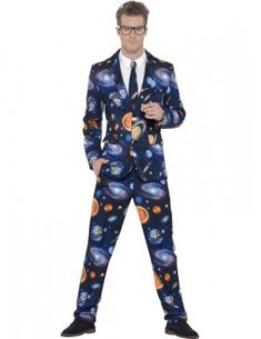 Mens Stand Out Suits Stag Do Party New Comedy Funny Fancy Dress Costume Outfit Full Body Costumes, Cool Costumes, Adult Costumes, Costume Ideas, Space Suit Costume, Space Costumes, Halloween Outfits, Halloween Costumes, Ties