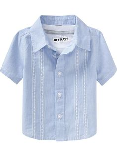 Old Navy   Micro-Stripe Guayabera Shirts for Baby Lalito's Easter shirt!!!! @Ludi Flores