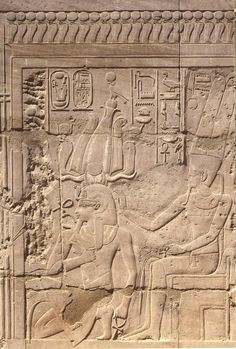 The coronation of Amenhotep III by the god Amun.