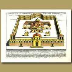 35 x 24.5 cm (13.8 x 9.8 inches).Thermae Traiani imperatoris in monte aventino…