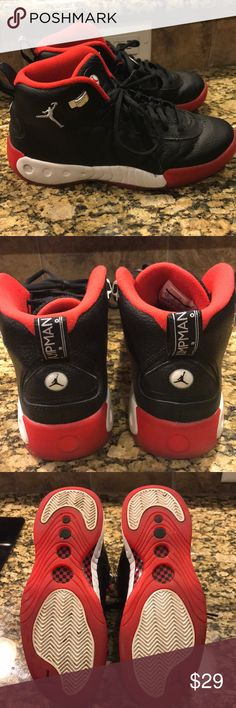 Shop Women's Nike Black Red size Athletic Shoes at a discounted price at Poshmark. If you have a basketball lover or Michael Jordan fan these are great. Nike Michael Jordan, Black Nikes, Nike Shoes, Athletic Shoes, Nike Women, Basketball, Fan, Best Deals, Sneakers
