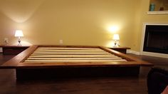 Custom Solid Wood Floating Platform Bed Loft Bed by PeaceLoveWood