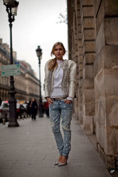 parisian street style women jeans with heels