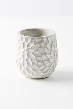 Chrysanthemum Pot. They are beautiful and well made. The texture makes this pot unique and interesting #MakingPottery