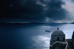 The bay of Santorini Greece. Good place to hunt vampires, too!