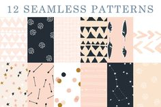 Arrows & Stars - Patterns by Shh! Maker Design on Creative Market