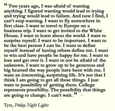 tyras essay friday night lights