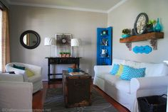 my vintage and modern front room reveal! #decorating