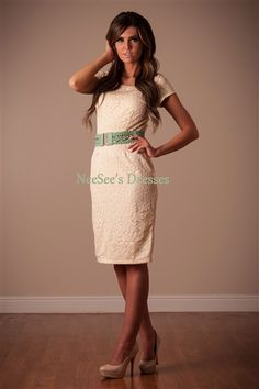The April White Lace Modest Dress by Mikarose | Trendy Modest Dresses | Mikarose Spring 2014 Collection