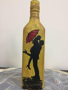 Painted Glass BottlesPaint BottlesDecorated BottlesWine Bottle VasesRecycled Wine BottlesGlass Bottle CraftsBottles And JarsAltered BottlesBottle Painting. Painting Glass Jars, Glass Painting Designs, Pottery Painting Designs, Bottle Painting, Glass Bottle Crafts, Wine Bottle Art, Painted Wine Bottles, Diy Bottle, Art And Craft Videos