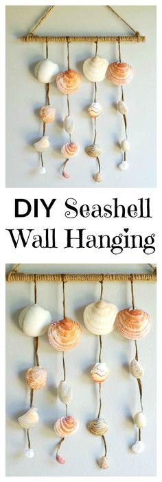 DIY Seashell Wall Ha