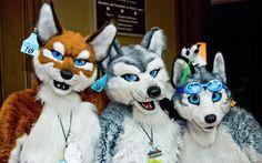 Three Furries @ Anthrocon 2009