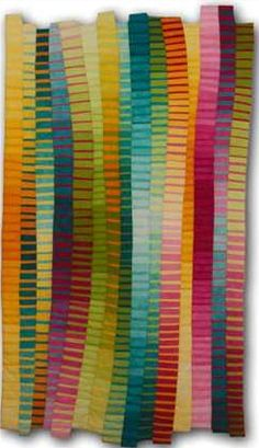 Modern Quilt Designs | quilting look at this art quilt by anne r parker made with solids don ...