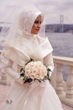 Hijabi Brides In White | Hashtag Hijab #PerfectMuslimWedding.com