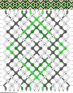 Muster # 21013, Streicher: 16 Zeilen: 18 Farben: 4