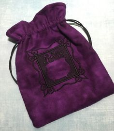 Tarot Bag Magic Cauldron Lined Oversized Handmade Embroidered Wicca Divination by flyingmonkeymusings on Etsy