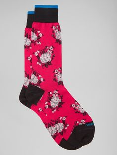 Summer Floral Sock by Duchamp London | Luxury Men's Socks | Designer - RODP005 Socks | Duchamp London Accessories Duchamp London