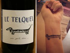 Gallery: Drinks Ink: 14 Cocktail, Beer, and Wine-Related Tattoos Hop Tattoo, Wine Tattoo, Beer Hops, Thierry, Grape Juice, Serious Eats, Cocktails, Drinks, Wine And Beer