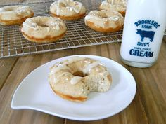 Baked Maple French Toast Donuts
