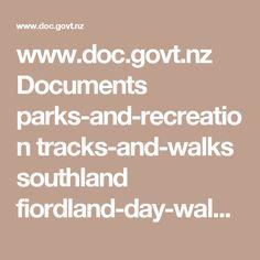 www.doc.govt.nz Documents parks-and-recreation tracks-and-walks southland fiordland-day-walks.pdf