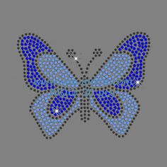 Rhinestone Butterfly Transfers For Garment