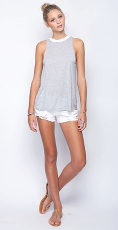Motel Tank - Gentle Fawn – Rich Rats Clothing