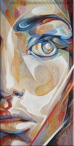 Modern: Ik vind dit geen kunst omdat ik het niet mooi geschilderd vind met die kleuren en het ontwerp vind ik niet mooi. Als ik het schilderij zie moet ik nergens aan denken en het geeft me ook geen gevoel