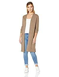 Women's Long Sleeve Open Front Drape Duster Maxi Long Cardigan with Side Slits - 02 Brown Medium Maxi Cardigan, Long Cardigan, Waterfall Cardigan, Vest Outfits, Sweater Outfits, Sweater Coats, Sweaters, Cardigans, Very Short Dress