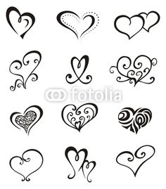 Hearts – Tattoo Set - bottom left for sisters