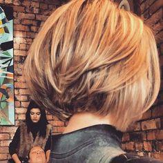 25 Bob Hairstyles for Thick Hair - Kurzhaarfrisuren - Layered Bob Hairstyles, Hairstyles Haircuts, Cool Hairstyles, Hairstyle Ideas, Bob Hairstyles For Thick Hair, Party Hairstyle, Fringe Hairstyles, Bob Haircuts, Ponytail Hairstyles