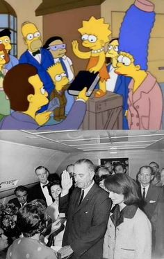 Reenactments Of 12 Famous Photos On The Simpsons